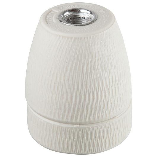 Porcelænsfatning E27 hvid