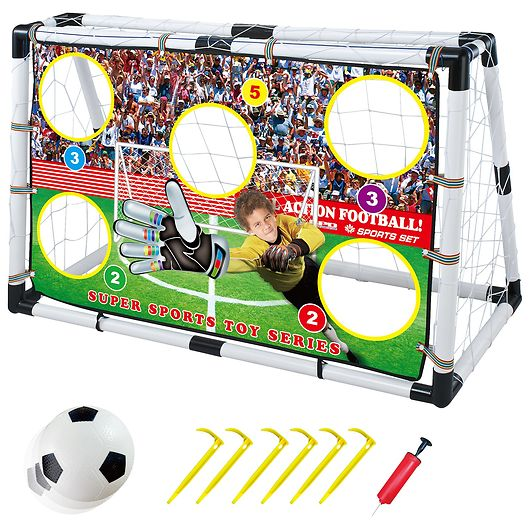 Toyhouse - Fodboldmål komplet med front-79,5x120cm