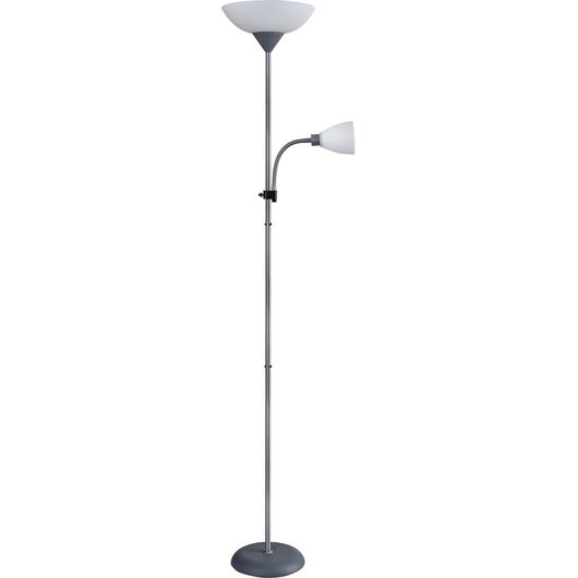 BRIGHT DESIGN - Gulvlampe Gisela uplight/læse-hvid