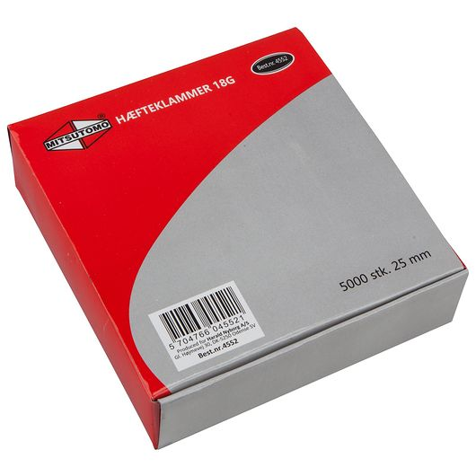 Mitsutomo - Hæfteklammer 5,5 x 25 mm 5000 stk.