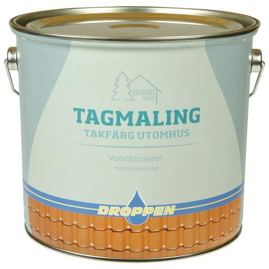 Droppen tagmaling antrazitgrå - 4 L