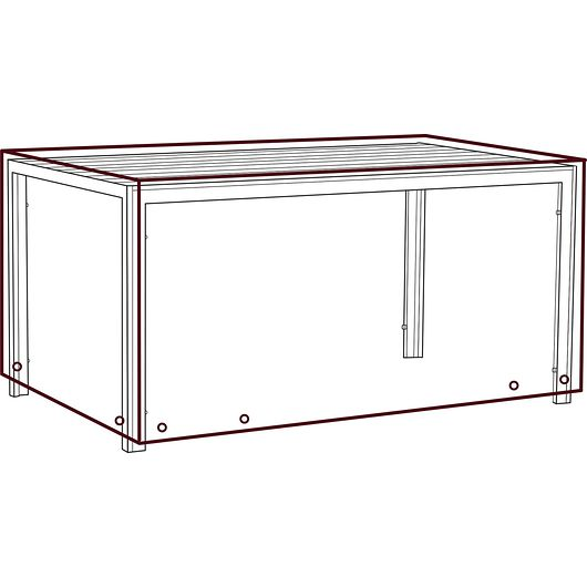 Sunsha - Bordovertræk 75 x 90 x 150 cm - sort