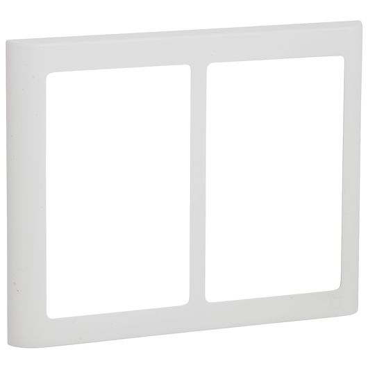 FUGA design ramme SOFT 63 2 x 1 ½ modul hvid