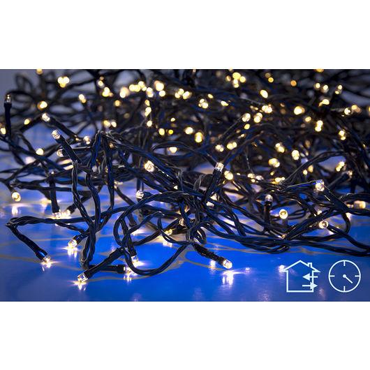 Nowel - Lyskæde 80 LED batteri og timer- varm hvid