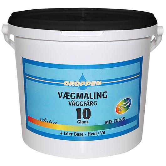 Droppen - Vægmaling til toning glans 10 hvid 4 L