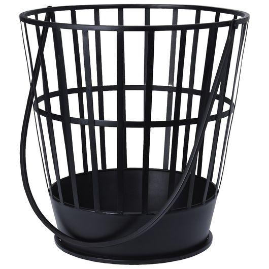 Bålkurv sort - Ø. 39 cm