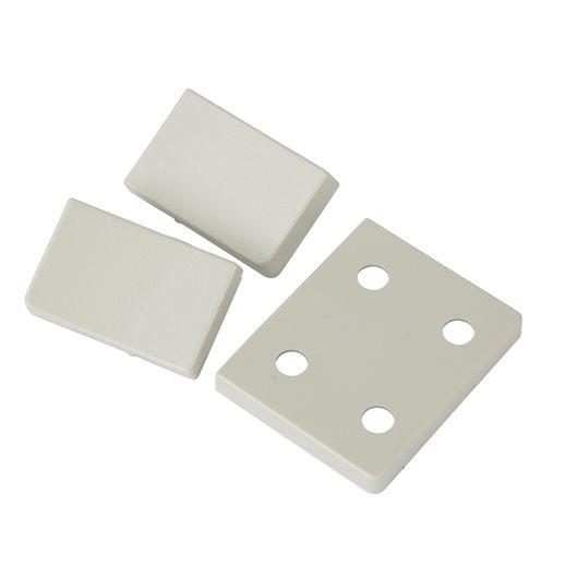 Tangent stikkontakt 1½ modul dobbelt grå