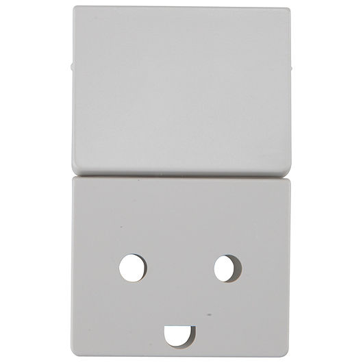 LK FUGA - Tangent stikkontakt 1½ modul grå m/jord