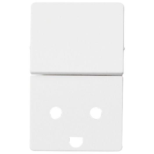 FUGA tangent stikkontakt 1½ modul hvid med jord