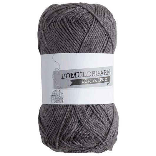 Bomuldsgarn 50 g - mørkegrå