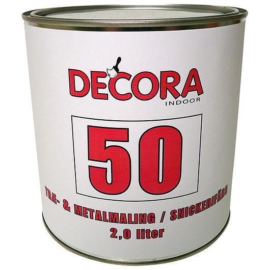 Decora træ og metal glans 50 hvid 2 L