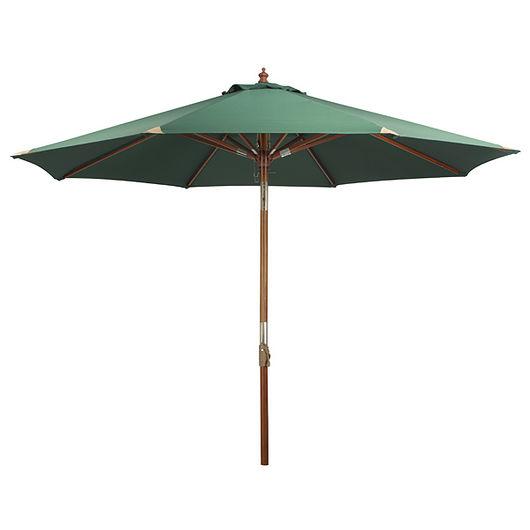 Parasol med træstok - Ø. 3 m grøn