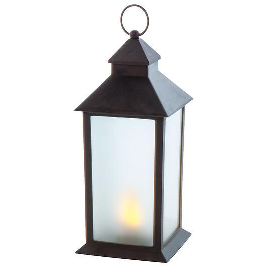 Lanterne LED sort H. 32 cm