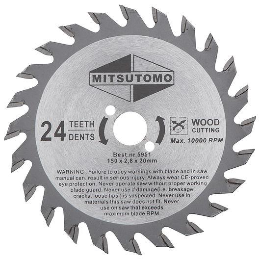 Mitsutomo - HM rundsavsklinge 150 mm 24T