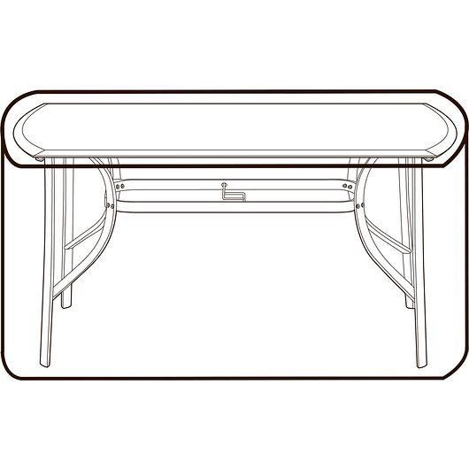 Ovalt bordovertræk 75 x 95 x 155 cm