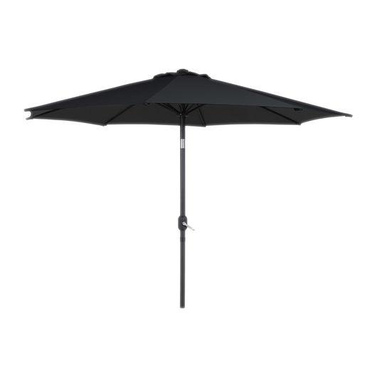Parasol med tilt - Ø. 3 m sort