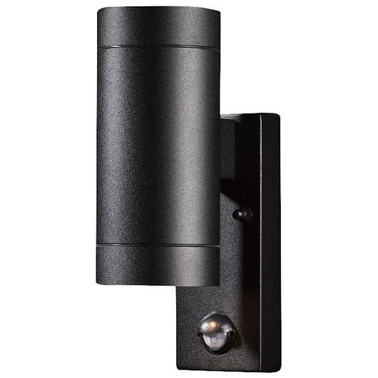 Sartano - Væglampe Orø med sensor - GU10 sort