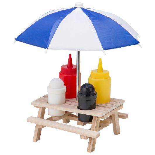 Krydderisæt som mini picnicbord - 6 dele