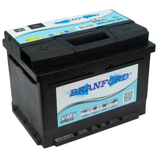 BRANFORD - Autobatteri 60 Ah +venstre