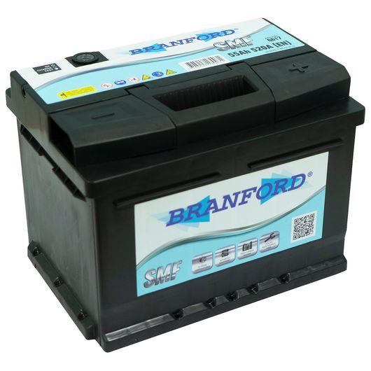 Autobatteri 55 Ah +højre