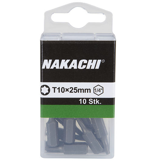 Nakachi bits TX10 25 mm 10-pak