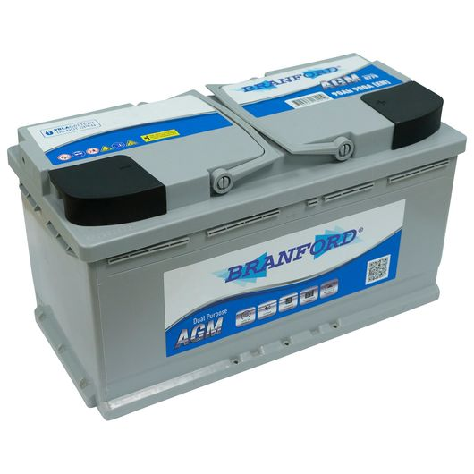 BRANFORD - Fritidsbatteri 90 Ah +højre