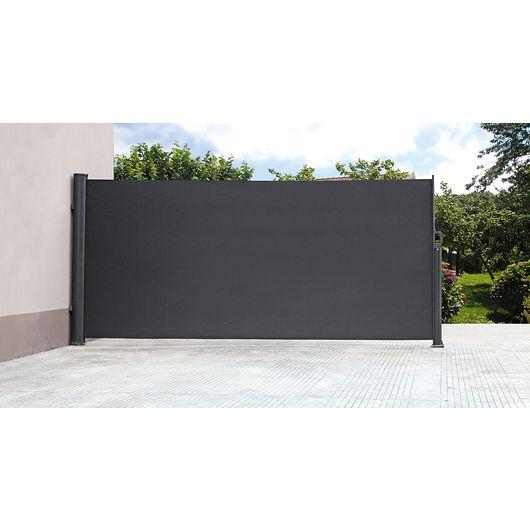 Sidesejl sort H. 180 cm