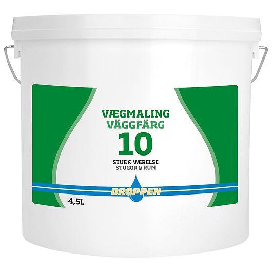 Droppen vægmaling glans 10 hvid 4,5 L