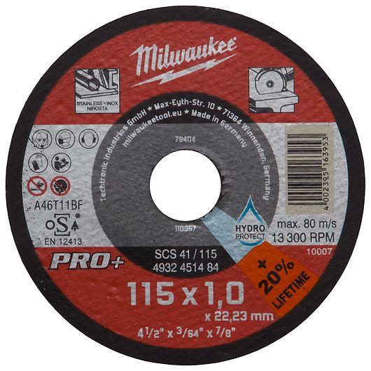 Milwaukee skæreskive Ø. 115 x 1,0 mm