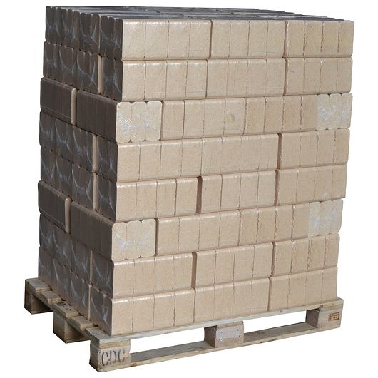 Træbriketter 96 pakker - 1 palle