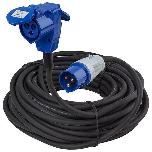 CEE kabel med schukoudtag 25 meter