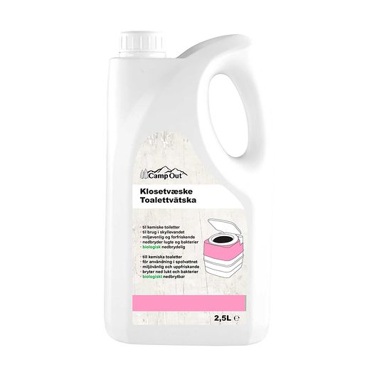 CampOut - Klosetvæske pink 2,5 liter