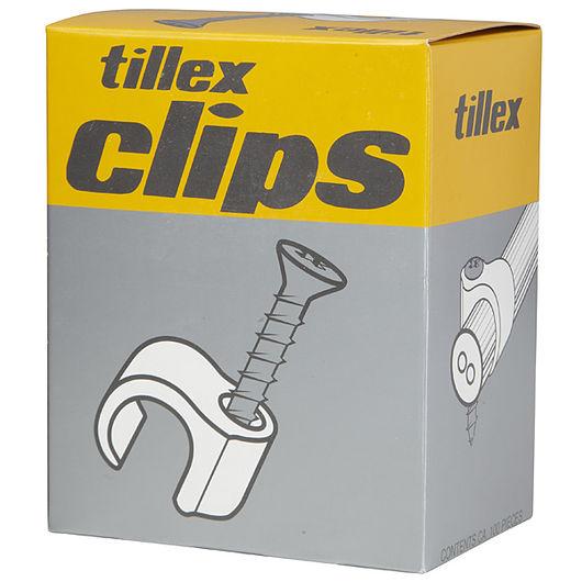 Tillex skrueclips 10-14 mm hvid