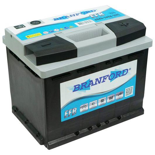 BRANFORD - Autobatteri 60 Ah start/stop +højre