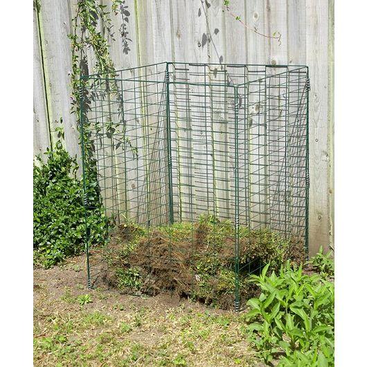 Kompostbeholder grøn metaltråd