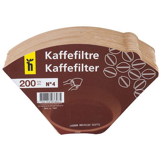 Kaffefilter ubleget i str. 1 x 4 - 200-pak