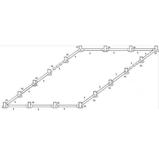 KOSAMA - Bundramme 6 x 12 m til PVC partytelt