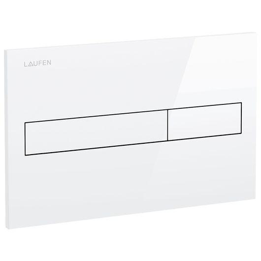 LAUFEN - Trykplade til dobbeltskyl - hvid