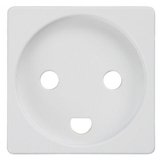 Tangent stikkontakt 1 modul hvid u/afbryder m/jord