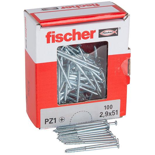 Fischer afbryderskrue 2,9 x 51 mm 100 stk.