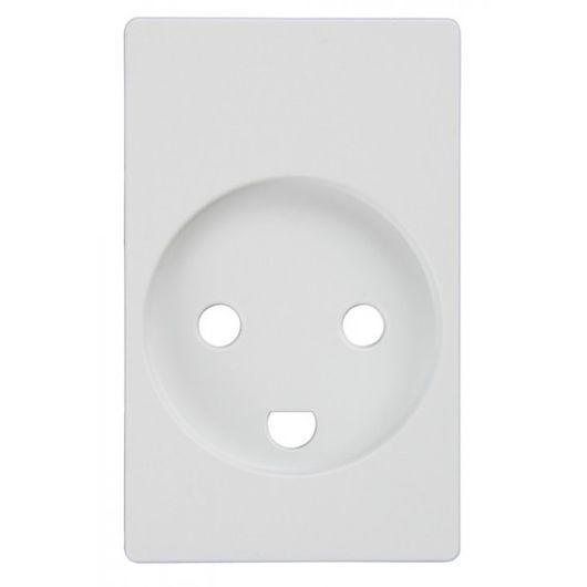 Tangent stikkontakt 1½ modul hvid u/afbryd m/jord