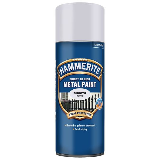 Hammerite spray 400 ml sølv
