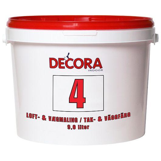 Decora - Vægmaling glans 4 hvid 9 L