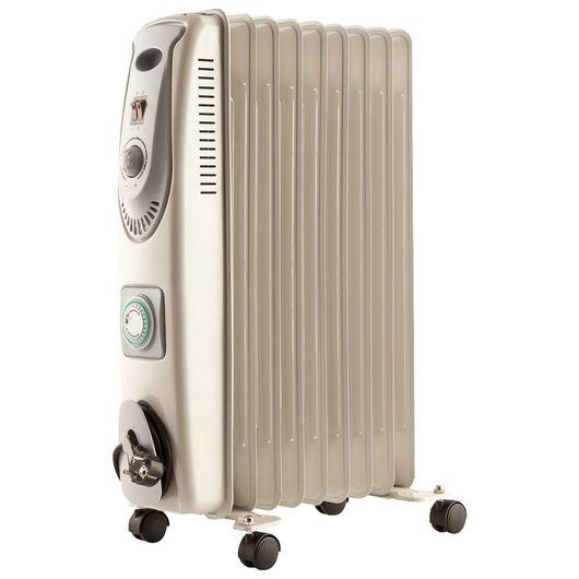 Heatmax - Olieradiator 9 ribber med timer