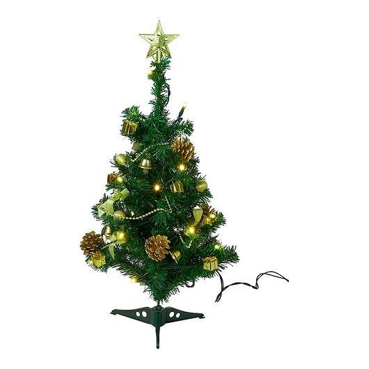 Nowel - Juletræ med lys og pynt 120 cm