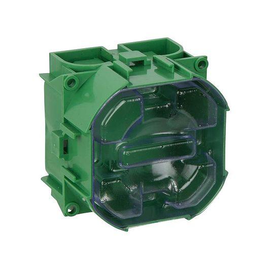Indmuringsdåse 1 modul grøn