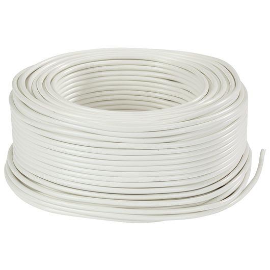 Ledning rund 3G0,75 mm² hvid