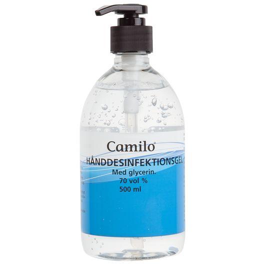 Hånddesinfektionsgel 70% - 500 ml