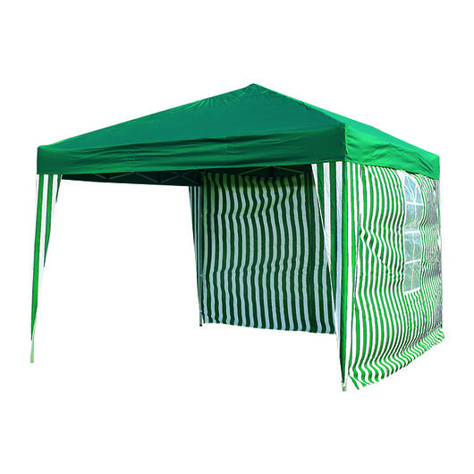 Sidevæg 2 x 3 m grøn/hvid 2-pak
