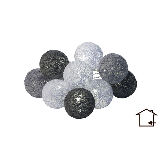 Lyskugler Ø. 6 cm grå 10 stk.